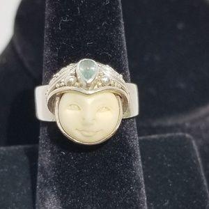 Sajen Offerings Goddess Face Ring
